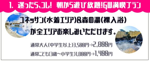 【クーポン】箱根小涌園ユネッサン 迷ったらコレ!朝から遊び放題!GW満喫プラン