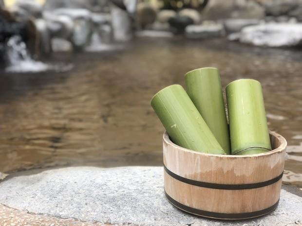 【森の湯】4月の季節風呂「青竹の湯」